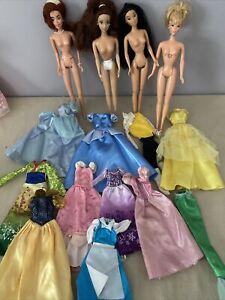 Disney Princess Barbie Doll Dress Gown Mixed Lot  - Beautiful Gowns 4 Dolls