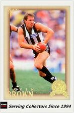 2012 Select AFL Eternity Hall Of Fame Card HOF193 Gavin Brown (Collingwood)