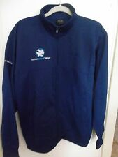 NWT Mens Large Oakley Square SQ O Protection Crew Full Zip Track Jacket Blue