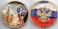 World Cup Russia 2018 Gold Coin Kremlin Gem MEMORABILIA Rare Messi Ronaldo Spain