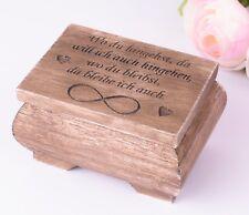 Holz Ringkissen Ring Box Vintage Styl Ring Schatulle Schachtel
