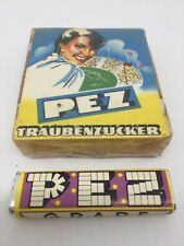 rare PEZ candy box in cello 50s 60s, peppermint, citron, coffee candies