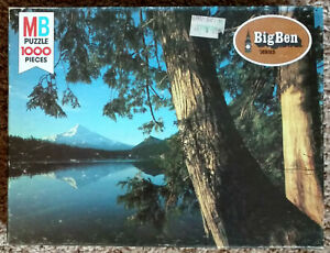 1978 Mt Hood Lost Lake Oregon 1000 Piece MB Big Ben Jigsaw Puzzle Complete