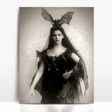 The Vampire Queen,Victorian Costume,Batgirl,Bat Costume,Gothic Decor 8x10 Print