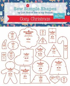 """Sew Simple Shapes """"Cozy Christmas"""" Templates (20) by Lori Holt"""