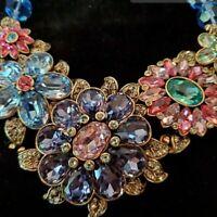 Gorgeous Heidi Daus Glorious Garden Crystal Necklace - Amazing!!! WOW!!
