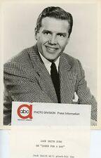 JACK SMITH SMILING PORTRAIT YOU ASKED FOR IT ORIGINAL 1962 ABC TV PHOTO