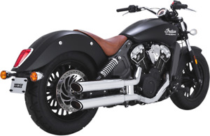 Vance & Hines Chrome Twin Slash Exhaust Mufflers for 2015-2021 Indian Scout