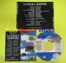 CD RENZO ARBORE LA SCUOLA GENOVESE compilation PROMO 90 CONTE LAUZI PAOLI (C7)