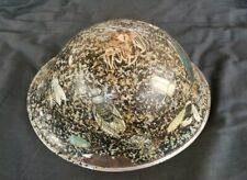 Unique WW2 British Canadian Mk4 Combat Camouflage Helmet w/ Decoupage Insects