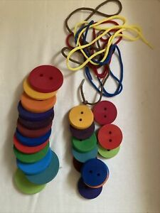 Grimms Wooden Threading Buttons