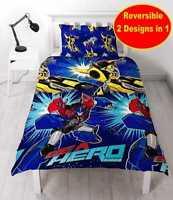 Transformers Single Bedding Set Hero Reversible Duvet Cover for Boys