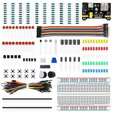 Electronics Component Basic Starter Kits Breadboard Cable Resistor Capacitor Led