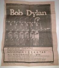 Bob Dylan 1979 Warfield Theatre San Francisco Concert Dates & Bill Graham News
