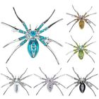 Halloween Spider Fashion Jewelry Brooch Enamel CZ Gems Pins Brooches Chic Gifts