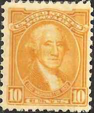 MH 1932 UNITED STATES 10 Cents Stamp Washington 1732-1799 ORANGE YELLOW 200th