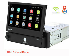 Car radio 1 DIN Android flip out screen GPS WIFI CAMERA RDS stereo video