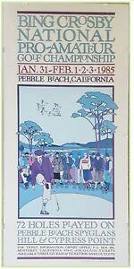 Bing Crosby 1985 Pebble Beach Pro Am Golf Championship Exhibition Print Framed