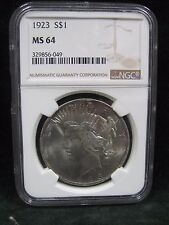 1923 S$1 Silver Peace Dollar Coin - NGC MS 64