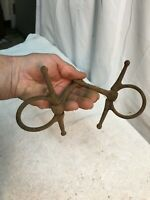 Vintage Rusty Iron Horse Harness Bit Antique  Western Cabin Garden Decor