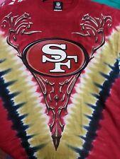 San Francisco 49ers V-dye Liquid Blue T Shirt Ships Same Day 2xl