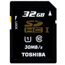 New Toshiba 30MB/s 32GB Class 10 U1 SD SDHC 200X UHS-I FULL HD Flash Memory Card