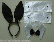 Playboy Bunny Costume Accessories - Ears, Bow Tie, Cuffs  -  Aussie Seller