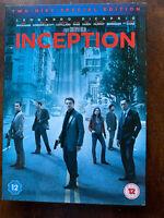Inception DVD 2010 Fantascienza Film Con Leonardo Dicaprio W/Copertina