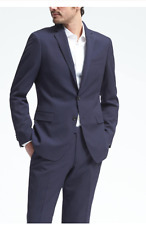 NWT BANANA REPUBLIC SLIM NAVY PINSTRIPE  WOOL SUIT ( ALL SIZES ) 2017 COLLECTION
