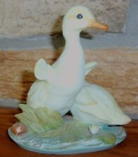 Homco Masterpiece Porcelain Yellow Ducks Figurine 1982 - Mint