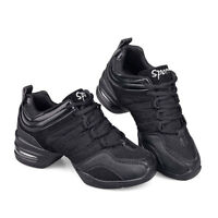 NEW Women's Light Breathable Black Modern Jazz Hip Hop Line Dance Shoes Sneakers