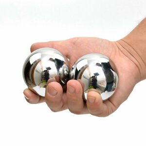 Baoding Balls Solid Stainless Steel 55mm 2pcs For Wrist Strengthening Relaxation