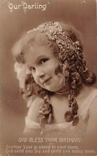 God Bless Your Birthday, Our Darling, Joy, Beautiful Girl, Necklace 1911