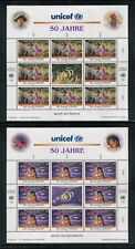 UN-Vienna #210-211, 1996 UNICEF 50th Anniversary - Fairy Tales, Panes Set NH