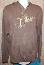 NIKE Brown Zip Cotton Blend Hoodie / Hooded Sweatshirt Women's Medium 8/10