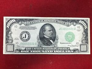 1000 USD 1000 us dollar original genuine money year 1934 1000$ USA
