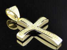 Collares y colgantes de joyería amarillos de plata de ley