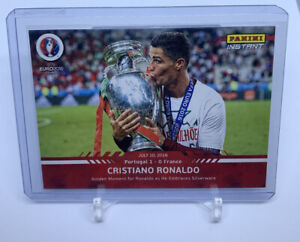 Panini Instant Euro 2016 Cristiano Ronaldo Trophy Kiss Card 1 Of 329