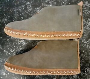 LL BEAN Men's Green Suede Lined Wicked Good Slipper Booties Size11 M