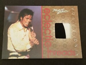 Michael Jackson Electic Threads Memorabilia trading card Panini 2011