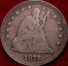 1877 Philadelphia Mint Silver Seated Liberty Quarter