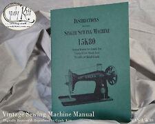Singer 15K80 Instructions (repro)
