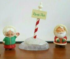 Hallmark merry miniatures North Pole Sign Santa eskimo lot