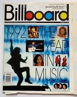 1992 YEAR IN MUSIC BILLBOARD MAGAZINE LUIS MIGUEL WHITNEY HOUSTON MARIAH CAREY