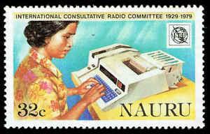 Scott # 199 - 1979 - ' Woman Operating Telex Machine '