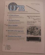 IFR Pilot Magazine A Chain Of Errors & Signet Factory June 1996 FAL 061815R