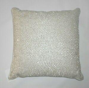 Hudson Park Collection Luxe Frame Decorative Pillow 18 X 18 retail $230