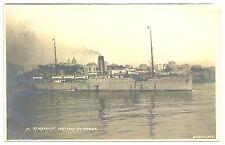 NEDERLAND S.M.N. 1913-8-18 FOTO AK =S.S.REMBRANDT = PM= POSTAGENT --  F/VF