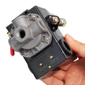 Air Compressor Pressure Switch Control Valve 120PSI 4 Port Unloader On/Off Lever