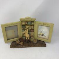 Disney Winnie The Pooh Picture Frame Double Desktop Photo 3D Hunny Pot Charpente